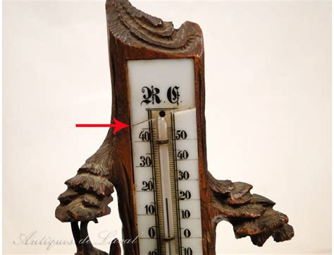 Termometer Century thermometer carved black forest mountain chamois