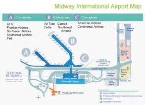 Chicago Midway Airport Map by Midway Airport Diagram Chicago