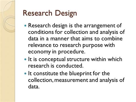research design definition by kothari research methodology research design ppt video online