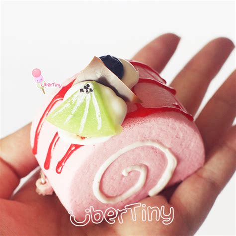 Squishy Fruit Roll Cake squishy swissroll log cake with fruits and icing 183 uber