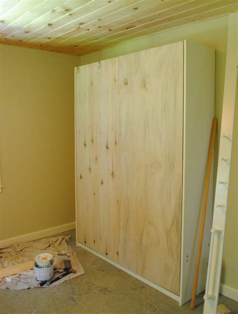 Queen Bed Frame Size Diy Murphy Bed How To Build Folding Bed