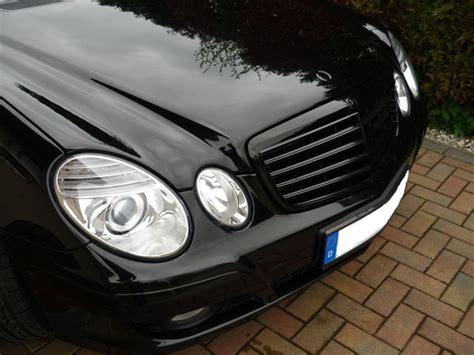 Grille Kap Motor Mercedes E Class W211 p1010423 schwarzer grill mercedes e klasse w211