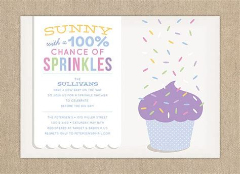 Sprinkles Baby Shower Cupcakes by Baby Shower Invitation Sprinkle Shower Invitation Diy