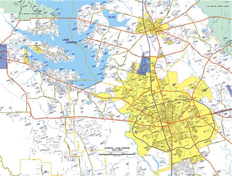 map conroe texas maps custom mapping solutions for your business lake conroe