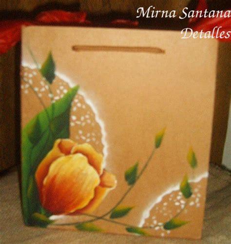 fundas de papel bolso de papel o funda pintada a mano detalles pintados