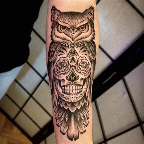 owl and sugar skull tattoo 25 best ideas about sugar skull owl on pretty