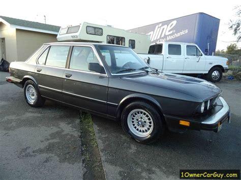 bmw 1983 5 series 1983 bmw 5 series 528e 4dr sedan in el cajon ca 1 owner
