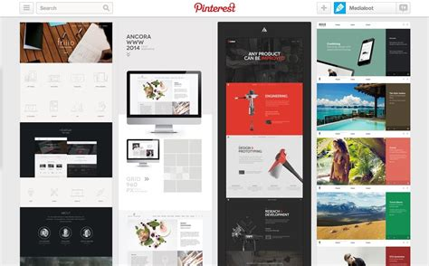 web layout pinterest 8 best web design inspiration pinterest boards medialoot