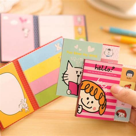 Memo Tempel Sticky Notes Post It Stick It Plester Tensoplast Sno048 aliexpress buy memo sticky notepad 2 fold n times stick post it notes stickers kawaii