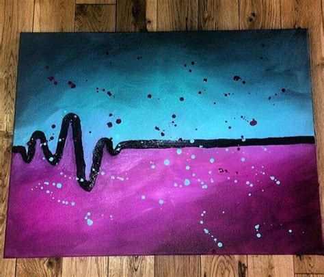 cool easy acrylic painting ideas skips a beat acrylic canvas painting by scrcreations