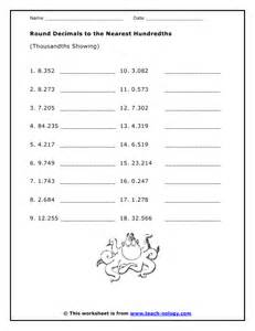 rounding decimals to the nearest hundredth worksheet