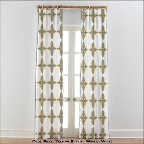 Yellow And Gray Curtains Coptic Cross Curtains In Yellow Gray White 22 Other Colors Eclectic Curtains By Anitavee