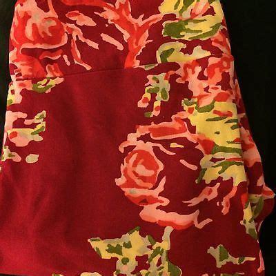 ebay lularoe lularoe tc tall and curvy leggings cranberry floral print