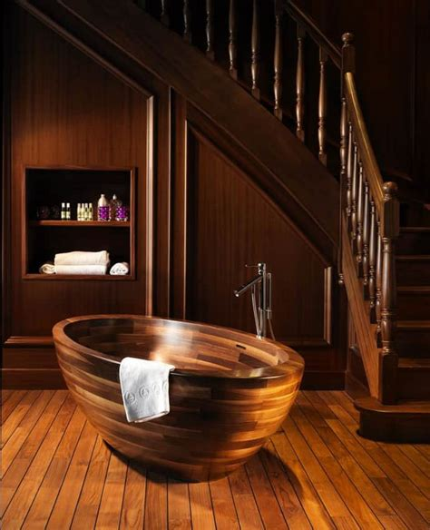 wine barrel bathtub 15 wooden bathtubs that send you back to nature