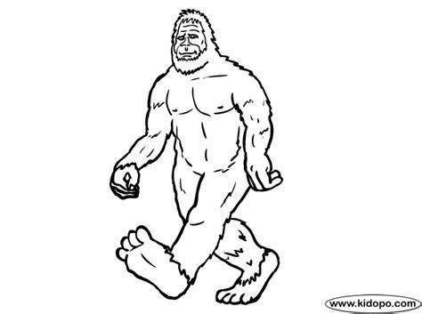 Bigfoot Coloring Pages Bigfoot Coloring Page