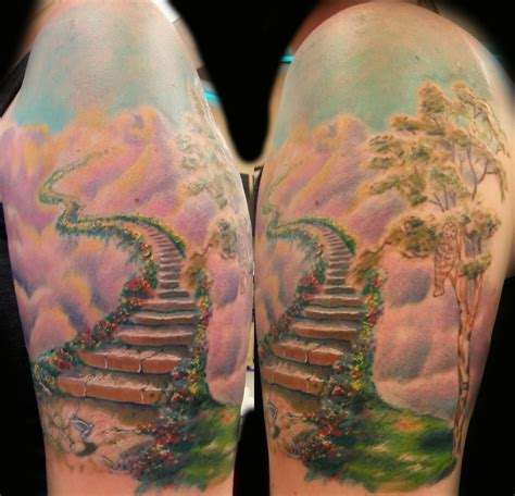 stairway tattoo designs gates of heaven tattoos designs