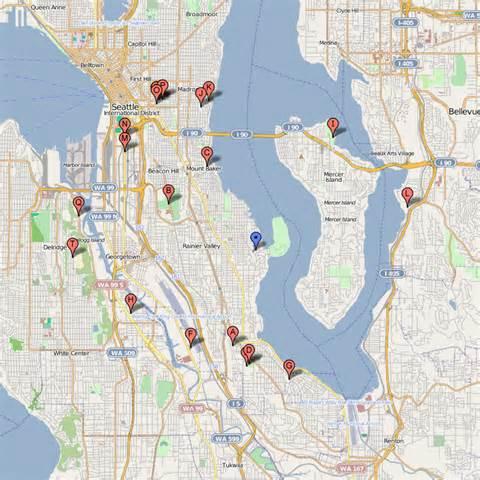 Seattle Parks Map map of seward park seattle washington images
