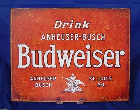 busch light tin sign bud light retro beer anheuser busch bar tin sign