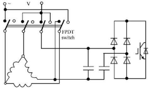 single phase induction motor braking of zero sequence braking for a three phase induction motor operating from single phase