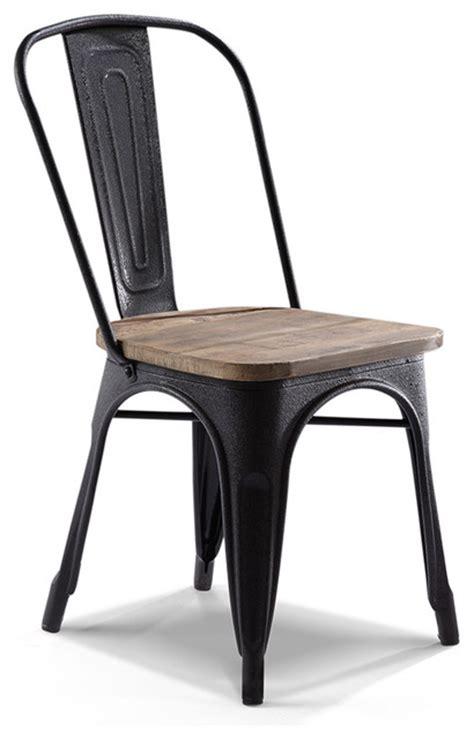 chaise industrielle metal chaise de bistrot industrielle en bois m 233 tal