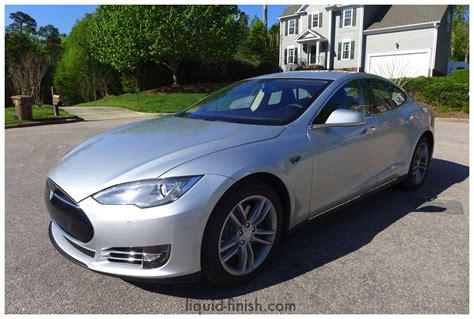 new car opticoat silver tesla model s 85