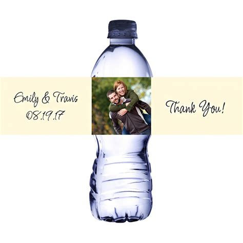 water bottle label design your own custom printed photo water bottle labels