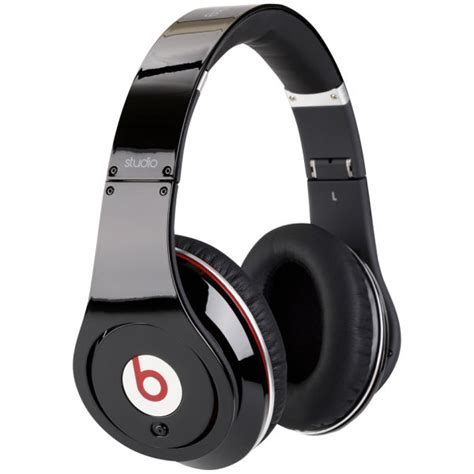 Headset Beats Studio beats by dr dre studio noise cancelling hd headphones with microphone black iwoot