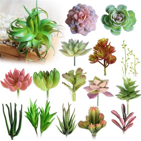 decorative flower various artificial succulent plants lotus landscape