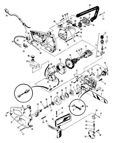 mcculloch parts diagram i a mcculloch electric chainsaw model em14a how do