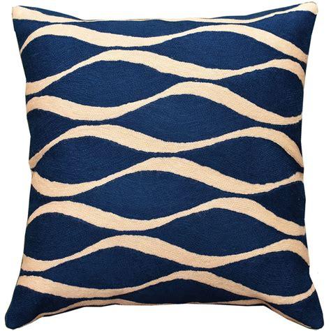 blue decorative pillows contemporary waves midnight blue i decorative pillow cover