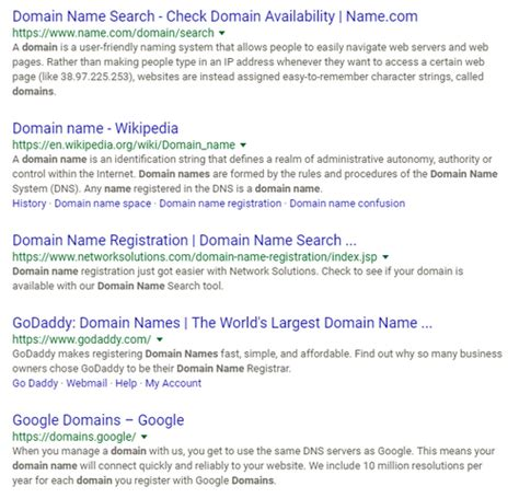 top search results  domain  domain  wire