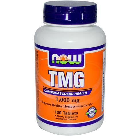 Tmg Detox by Now Foods Tmg 1 000 Mg 100 Tablets Iherb