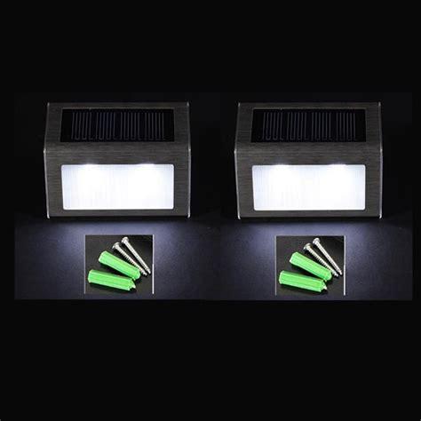 Beleuchtung Led Strahler by 2er Solar Le Solarlicht Beleuchtung Led Strahler Wand