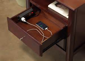 charging station nightstand nightstand with charging station