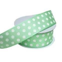 mint green 1 5 quot polka dot grosgrain ribbon smarty had a