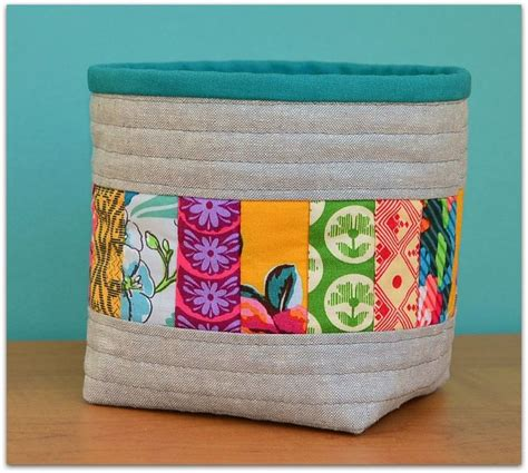 Patchwork Gifts Free Patterns - 25 best ideas about fabric basket tutorial on