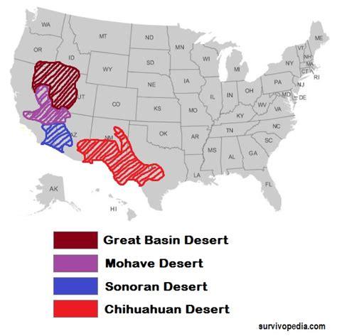 map us deserts surviving the heat surviving the desert survivopedia