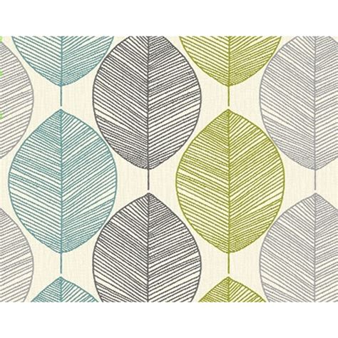 leaf pattern vintage opera wallpaper heavyweight retro leaf teal green 408207