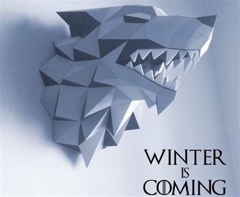 Paper Craft Wall - of thrones house stark of winterfell wall hanging