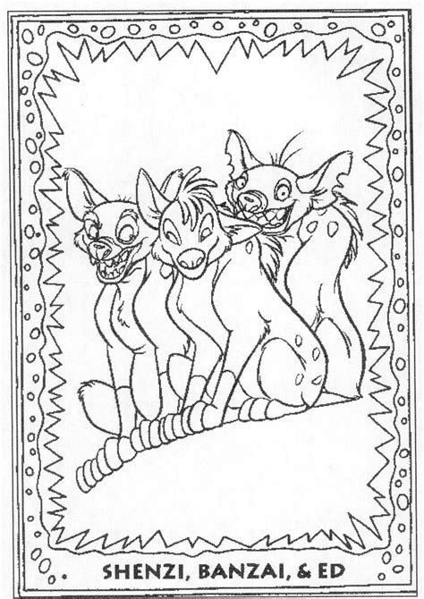 lion king hyenas coloring pages hyenas coloring book