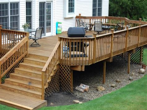 easy deck ideas back yard kitchen ideas outdoor wood deck designs ideas