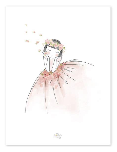 kinderzimmer deko poster lilipinso kinderzimmer poster blumenm 228 dchen schwarz rosa