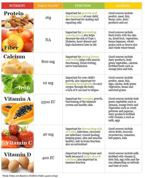 protein nutrients list of nutrients and their sources for health