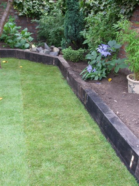 Using Railway Sleepers As Garden Edging by Railway Sleepers 171 Garden Gurus Landscape Gardening In
