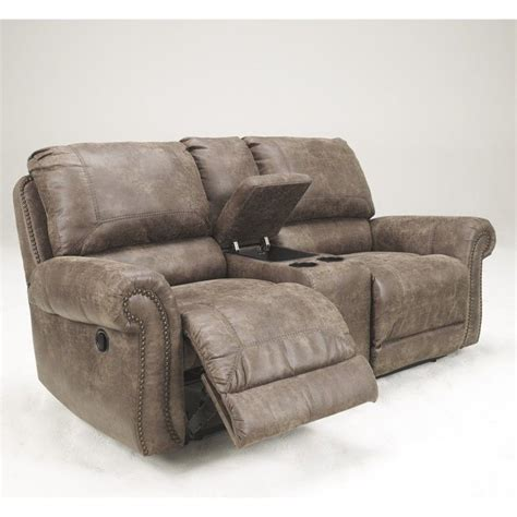 ashley double recliner ashley furniture oberson double reclining loveseat in