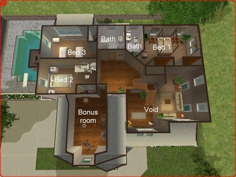 the sims house floor plans sims 3 probz pinterest mod the sims 3 bedroom craftsman style home