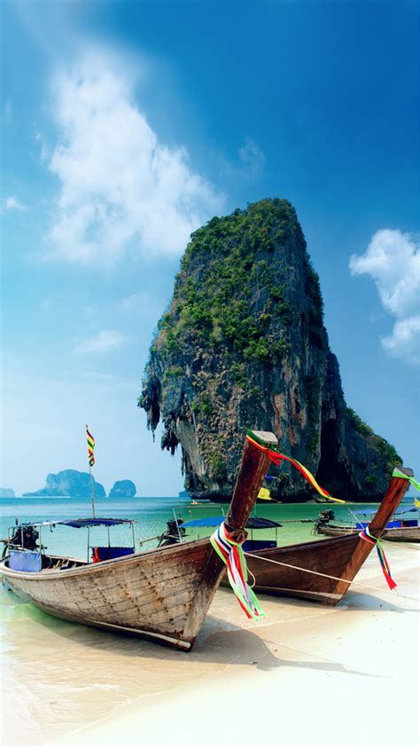 Wallpaper Iphone 6 Thailand | krabi island thailand beach iphone 6 wallpaper hd free