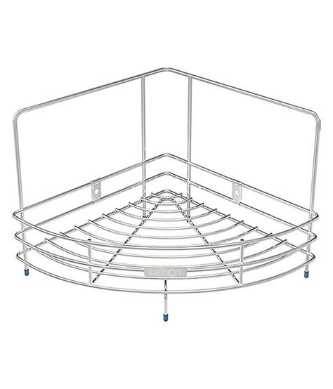 Shelf Of Saffron by Buy Saffron Stainless Steel Corner Shelf Single