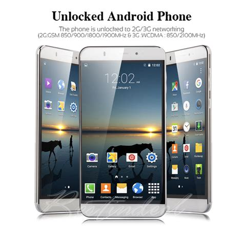 talk android phones 6 quot unlocked 3g gsm at t t mobile talk android cell phone smartphone gps ebay