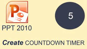 How To Create Countdown Timer In Microsoft Powerpoint 2010 Youtube Countdown Timer For Powerpoint Free